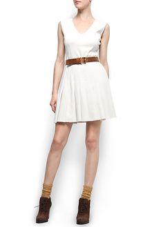MANGO - CLOTHING - Pleated skirt dress