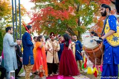 Baraat for Hindu Wedding at the Mansion in voorhees New Jersey conducted by DJ Raj Entertainment - Ajay and Aarti - mixed wedding - Sindhi Bride and Guyanese Groom.  Best Wedding Photographer PhotosMadeEz. Award Winning Photographer Mou Mukherjee