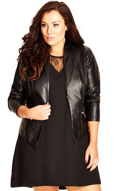 318bceab4 City Chic Sleek Seam Jacket - Women s Plus Size Fashion City Chic - City  Chic Your