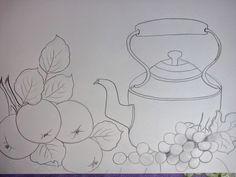 Pintura em tecido ,Pintura em tela, Riscos e desenhos para pintar e artesanatos: RISCOS FRUTAS 4