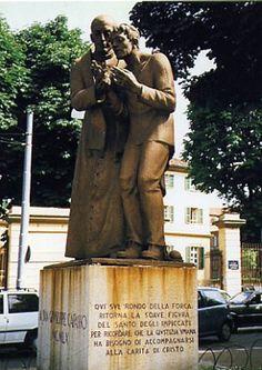 Rondò della Forca, monumento a San Giuseppe Cafasso, il santo degli impiccati