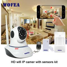 720P HD WiFi IP Camera HD 1MP CCTV IP CMOS security wifi camera Alarm system work with sensors Baby Monitor Motion Detector -*- AliExpress Affiliate's buyable pin. Clicking on the VISIT button will lead you to find similar product on www.aliexpress.com #SecurityAlarms