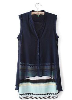 Cozy Stripe Casual Chiffon Dress