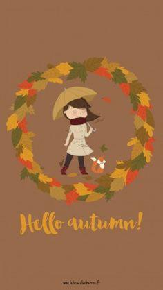 Fond d'écran pour fêter l'automne - Leticia, illustratrice freelance