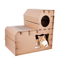 39 best cardboard cat house images cardboard cat house cat cave rh pinterest com