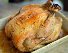 The moment I pulled my first whole roasted bird out of the oven was one of the most empowering culinary moments of my life. Scratch that. I'd say it was one of the most empowering moments of my lif… Roast Chicken Recipes, Roasted Chicken, Turkey Recipes, Moist Chicken, Rib Recipes, Baked Chicken, Recipies, Dinner Recipes, Food Dishes