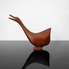 Teak Bird Figure / Mid Century