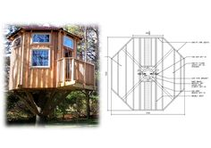 16' Octagon Treehouse Plan | Standard Treehouse Plans & Attachment Hardware