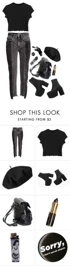 """Who's gonna save me?"" by taryn-ash ❤ liked on Polyvore featuring Betmar and Bettie Page"
