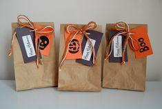 Halloween Treat Bags & Halloween Cookies