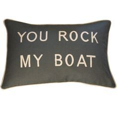 rustic lake house decorating ideas - You rock my boat pillow Boat Decor, Lake Decor, Beach House Decor, River House Decor, Beach Houses, Cricut, Rustic Lake Houses, Haus Am See, Up House