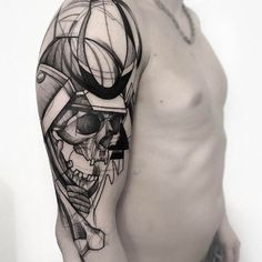 Dotwork+warrior+tattoo+by+Frank+Carrilho
