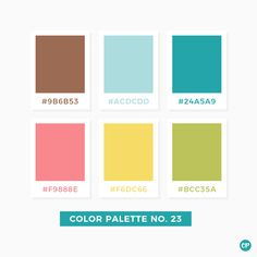 Color Palette No. A great inspiration when you are in a mood for going all colorful in you designs! Pantone Colour Palettes, Pantone Color, Color Patterns, Color Schemes, Color Palate, Aqua Color Palette, Web Design, Colour Board, Color Swatches
