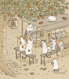 ideas for funny cute illustration kitty Illustration Mignonne, Cute Cat Illustration, Cat Illustrations, I Love Cats, Crazy Cats, Cute Cats, Funny Cats, Art Mignon, Cat Drawing