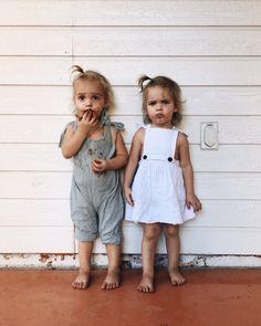 Hudson Baby Baby Girls' Cotton Dress, Cardigan and Shoe Set Funny Babies, Cute Babies, Baby Kids, Cute Little Baby, Little Ones, Toddler Fashion, Kids Fashion, Baby Girl Shirts, Twin Girls