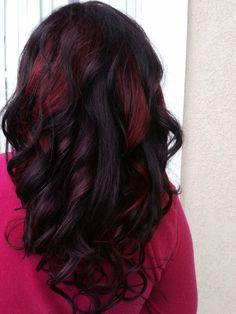 Black Violet Hair Long Hair Permanent Color By Me Purple