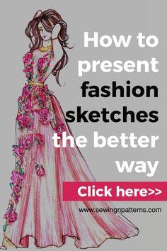 how to draw fashion sketches, fashion illustration techniques, fashion design. Fashion Design Sketchbook, Fashion Design Drawings, Fashion Sketches, Drawing Fashion, Fashion Illustrations, Design Illustrations, Fashion Moda, Trendy Fashion, Women's Fashion