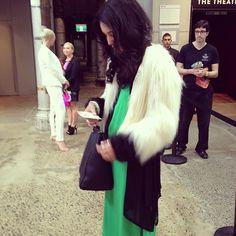 Unreal Fur. #cracking #fashion #style #thebowerbird #fur #jacket #streetstyle #hermanstore