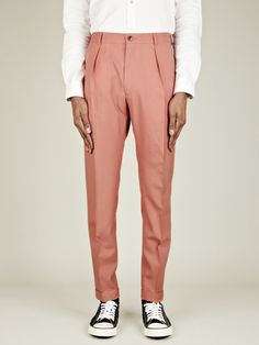 High-Waisted Pleated Pants | Trousers, Pants and Men pants