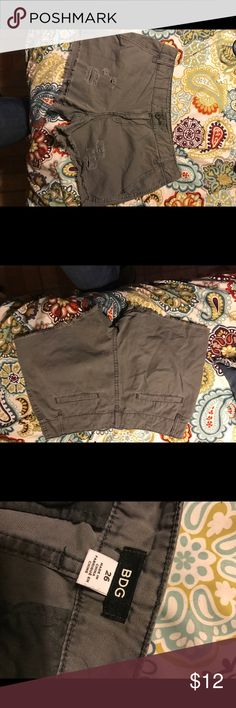 BDG Gray Distressed Shorts Adorable Short Shorts by BDG in desk gray and slightly Distressed. BDG Shorts