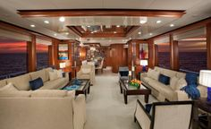 Nordhavn 120-Main Salon-Custom Yacht Interior Design-Destry Darr Designs