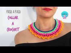 Collar sencillo a crochet - YouTube