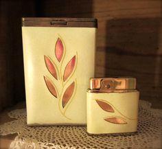 Princess Gardner Ladies Cigarette Case With Coordinating Lighter