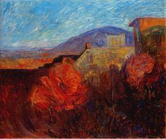 "bofransson: ""Autumn Morning, Lillehammer by Thorvald Erichsen "" Lillehammer, Nordic Art, Edvard Munch, Autumn Morning, Love Painting, Life Drawing, Landscape Art, Impressionist, Art Forms"