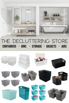 If you want the trendiest and most functional organizing containers then you have found the right spot! From glass jars to woven baskets we found them all! Girls Bathroom Organization, Bathroom Storage Solutions, Linen Closet Organization, Home Organisation, Container Organization, Organization Hacks, Kitchen Organization, Declutter Your Home, Organizing Your Home