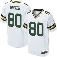 Mens Nike Green Bay Packers  80 Donald Driver Elite White NFL Jersey cheap  sale Green acefc0298