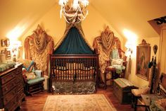 By far the most amazing nursery (and house) I've ever seen...Old world french victorian nursery by catrick