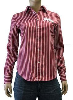 Hollister Shirts Womens L/S Paradise Cove Stripe Button Down ...