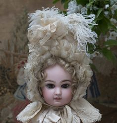 Rare Superb Antique French Original Bonnet for Jumeau Bru Steiner Eden from respectfulbear on Ruby Lane