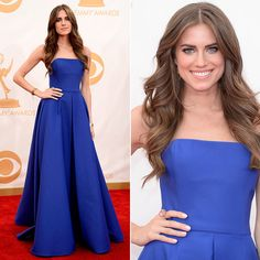Allison Williams 2013 Emmys #hair #makeup #nails