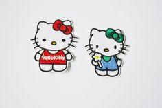2 stk  tøymerker Hello kitty