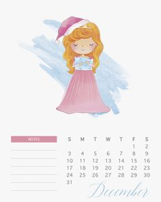 thecottagemarket.com 2017Calendars TCM-Princess-Calendar-12-December.jpg