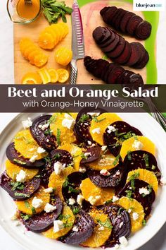 This beet and orange salad is a light and delicious combination of roasted beets, oranges, feta cheese and fresh mint leaves. Beet Salad Recipes, Smoothie Recipes, Roasted Beets Recipe, Roasted Beet Salad, Vinaigrette, Vegetarian Recipes, Cooking Recipes, Orange Salad, Soup And Salad