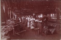 Schwinn factory in Chicago, 1890s  Courtesy of Mark Mattei, Cycle Smithy…