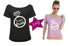 T-Shirts mit Print - JGA Shirt Braut+Security Set Diamant - ein Designerstück von DoppelD-Druck-Design bei DaWanda