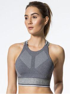 170fa45d742a8 LNDR Glide Sports Bra Grey Marl MEDIUM SUPPORT Athleisure Wear