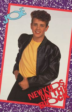 A great poster of handsome Joey McIntyre from back in the NKOTB days! An original New Kids on the Block poster published in 1989! Ships fast. 22x34 inches. Need Poster Mounts..? bm2781