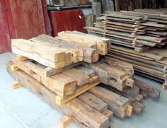 Hand Hewn Beams- great for a fireplace mantel