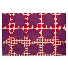 Multi-Dot Pink & Purple Rug  | The Land of Nod
