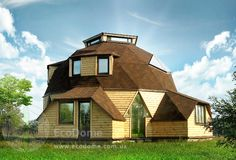 Geodesic Dome Homes, Dome House, Unusual Homes, Retro Home, Old Houses, Homesteading, House Design, Mansions, House Styles