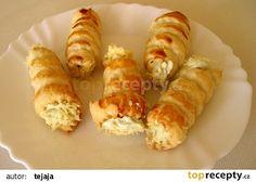 Trubičky plněné krémem z Nivy recept - TopRecepty.cz Ham, Sushi, Food And Drink, Ethnic Recipes, Hampers, Hams, Sushi Rolls
