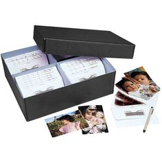 """Lineco 613-1512 Bulk Photo Storage Box (Without Envelopes, 15.5 x 12 x 5"""", Black) Small Backyard Patio, Photo Storage, Family Genealogy, Family Memories, Memory Books, Scrapbook Supplies, Storage Organization, Organization Ideas, Storage Boxes"""