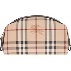 BURBERRY LONDON 'Haymarket' make-up bag ($240) ❤ liked on Polyvore featuring beauty products, beauty accessories, bags & cases, bags, makeup, beauty, accessories, clutches, cosmetic bags and make up bag