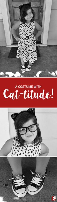 This easy DIY costume is the perfect Halloween look for your sassy princess. Pair some Converse shoes with cat ears and a neutral dress - and voila! You have a costume with cat-titude! (Photo c/o: @LookieBoo)