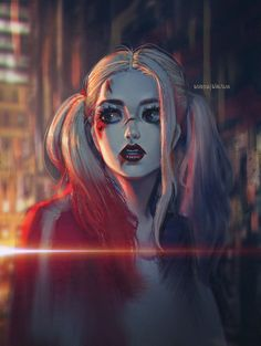 Harley Quinn, David Pan on ArtStation at https://www.artstation.com/artwork/N4xoN - More at https://pinterest.com/supergirlsart/ #suicide #squad #fanart