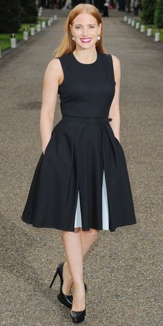 Stars in Ralph Lauren - Jessica Chastain - from InStyle.com